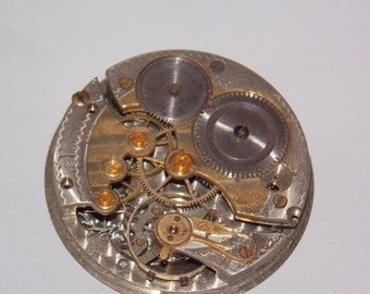 Antique 45mm Etched Pocket Watch Movement