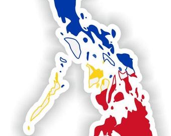 Philippines Map Flag Silhouette Sticker for Laptop Book Fridge Guitar Motorcycle Helmet ToolBox Door PC Boat