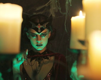 The Dracula Crown vampire halloween gothic rosary bat wing vampire costume