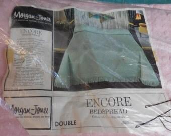 """Sale - NOS Vintage Morgan Jones PINK POPS """"Encore"""" Vintage Chenille Bedspread - Free Shipping"""