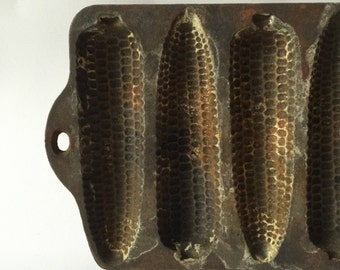 Cast iron corn muffin pan vintage rustic kitchen decor country barn ranch store your little things great for beads jewelry change too