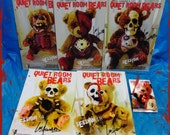 """Quiet Room Bears Card & Sticker Set - FIVE 5""""x7"""" cards + sticker - Signed by Artist Lee Howard"""
