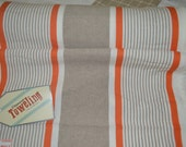 Thanksgiving Farmhouse linen Table Runner Moda Mango wide stripe Toweling 920187