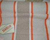 Thanksgiving Farmhouse linen Table Runner Moda Mango wide stripe Toweling 920187