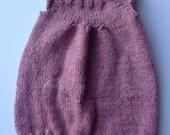0-3 month newborn knitted wool blend dress, sweater dress