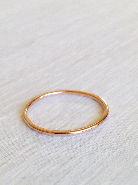Rose Gold Fill Ring Midi Ring  or Rose Gold Toe Ring -  Little Gold Ring - Pink Gold Band - Thin Rose Gold Ring