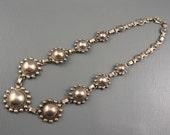 Reserved for Linda - Vintage Navajo Fred Harvey Sterling Satelitte Bead Necklace