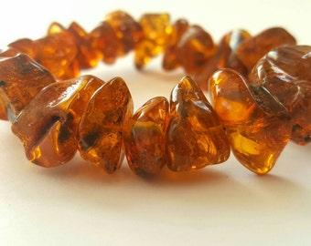 Baltic Amber Bracelet, honey amber bracelet, bead amber bracelet, unpolished amber bracelet, unique, gift, янтарный браслет, 琥珀手鍊, 琥珀ブレスレット
