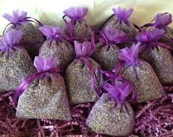8 Lavender Sachets, FRAGRANT Lavender buds Sachets/favors