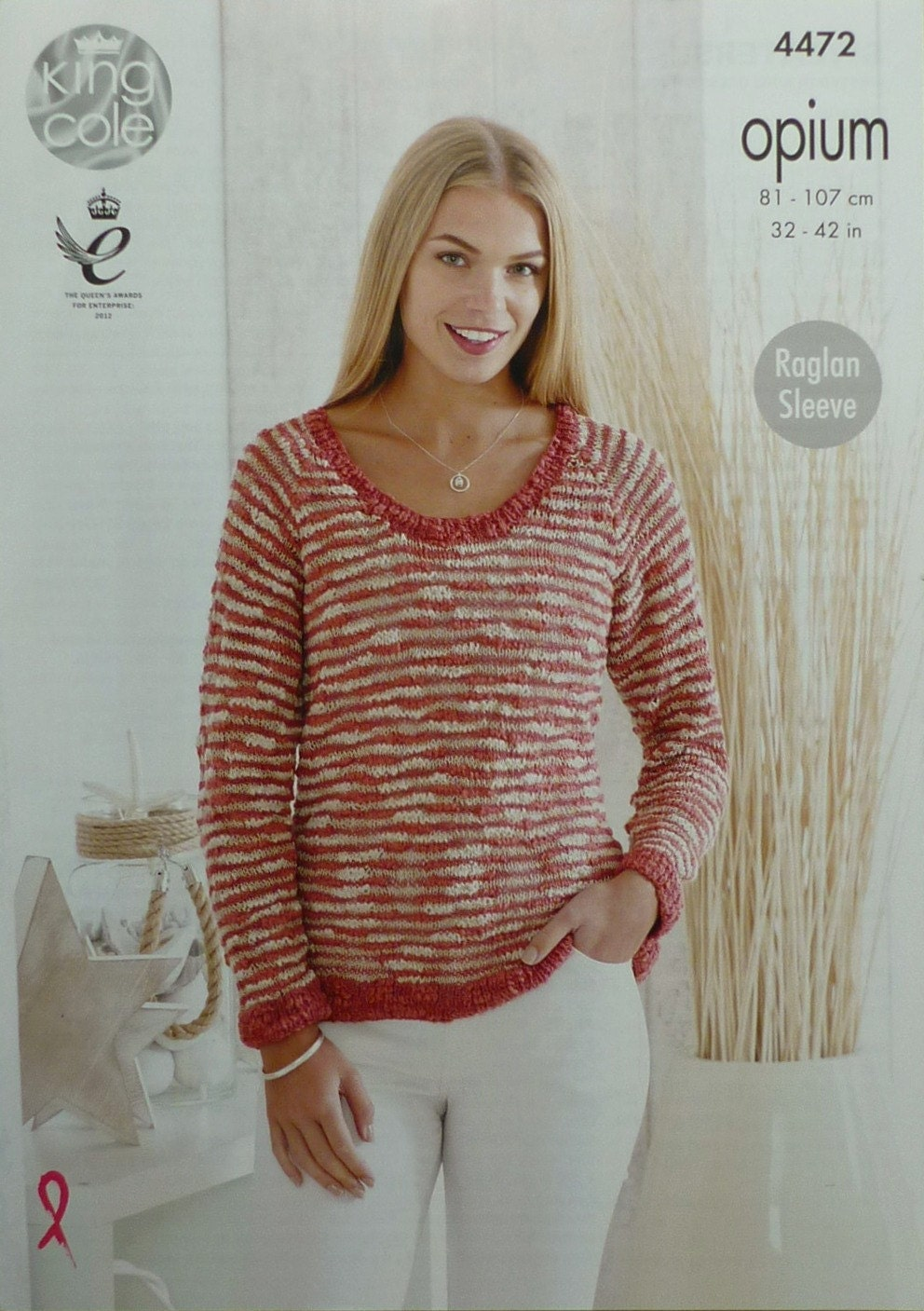 Knitting Pattern Round Neck Jumper : Womens Knitting Pattern K4472 Ladies Long Sleeve Round Neck Jumper Knitting P...