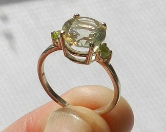 Oregon Sunstone Ring, with Peridot #21