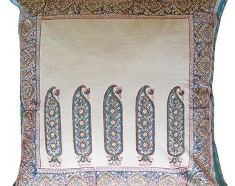 """Large Cotton Cushion Cover - Paris Paisley  24"""" x 24"""""""