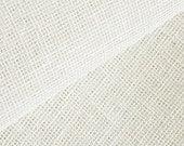 "Two 53.5"" x 50""  Custom Curtain Panels  -  Ivory Linen - Light Weight"