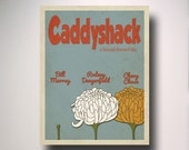 Caddy shack Minimalist Movie Poster / Wall Art / Movie Film Poster