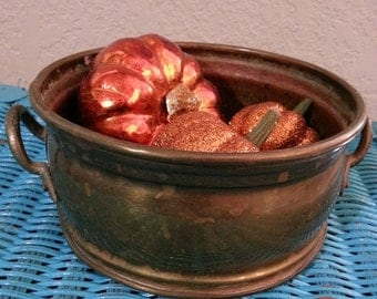 Vintage Brass Bowl, Brass Planter, Brass Home Decor, Brass Trinket Holder
