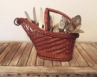 Vintage Basket Tote Wine Tote