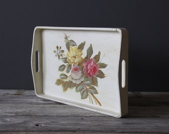 Hand-Painted Flower Tray