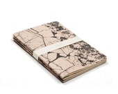 Mineral Stone lot of 3 notebooks - marbled rose and black handmade design notebooks - blank - STO6001