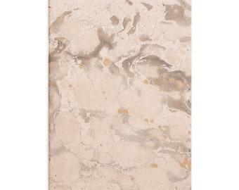 Marmoratus #2 brown marbled gold notebook - pastel rose golden foil letterpress cover GLDR5001