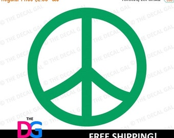 """30% OFF - Peace Sign Vinyl Decal Sticker - FREE SHIPPING - 2"""" 3"""" 4"""" 5"""" 6"""" 7"""" 8"""" 9"""" 10"""" 11"""""""