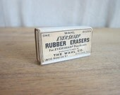 Vintage Advertising, Pencil Erasers, 12 Wahl Eversharp Rubber Erasers, Unused