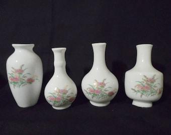 Set of 4 Petite Elegant vases