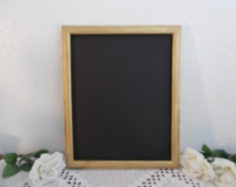 Gold Chalkboard Up Cycled Vintage Wood Blackboard Rustic Shabby Chic Distressed Spring Summer Fall Winter Wedding Reception Sign Decoration