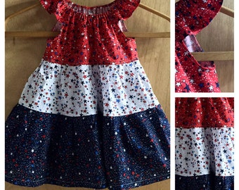 Fourth of July Peasant Style Sundress, size 2t