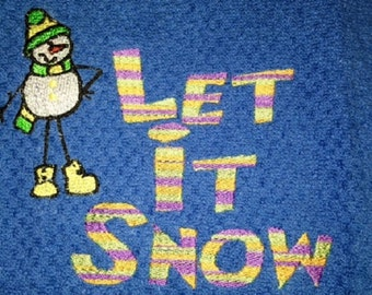Let It Snow Christmas/Winter Kitchen Towel