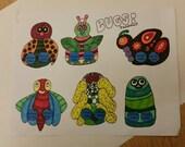 Bugs Finger Paper Puppet:  You Color It!