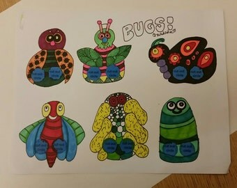 Bugs Finger Paper Puppet:  You Color It!