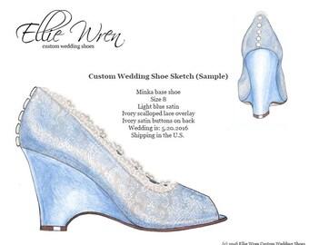 Custom Wedding Shoe: Design Sketch