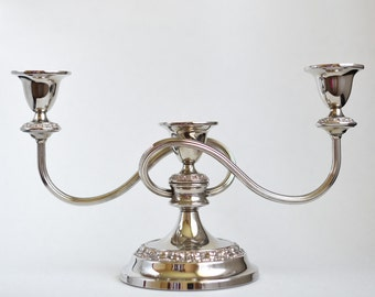 Vintage silver plated candelabra, beautiful design excellent condition great gift