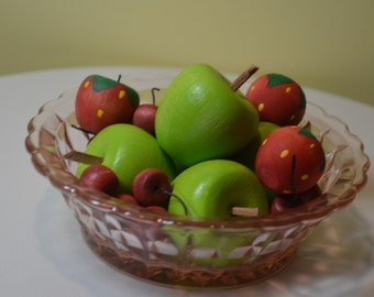 """Pretend Fruit Apples, Strawberries and Cherries Sized for 18"""" Doll"""