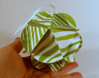 3d Paper ball, DIY KIT, Lime Green ornament, Party decor, globe ornament, origami ornament, DIY papercraft kit