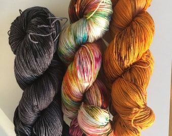 Dyed to Order - WestKnits KAL - Combo #01 - Sock Yarn Speckled Kit