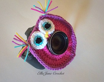 Adorable Crochet Owl Photo/camera Buddy, Photographer Buddy