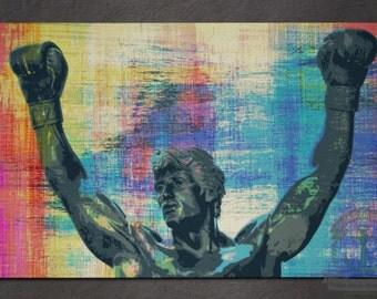 Placemat - Rocky Statue | Philadelphia Landmark Hometown Decor | Anti Skid/Non Slip Fabric Top Rubber Backed Awesomeness