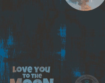 Love You To The Moon and Back Night Sky Nursery Room Decor Product Options and Pricing via Dropdown Menu