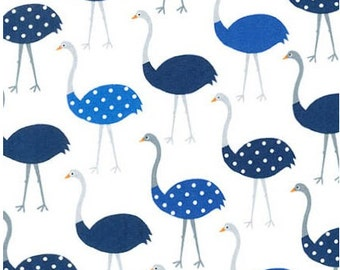 Blue Ostriches from Robert Kaufman's Urban Zoologie Collection by Ann Kelle