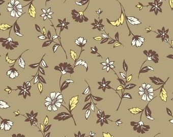 Brown Flowers from Marcus Fabric's Meridian Mix Collection