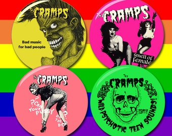 The Cramps Buttons 1.25 inch, 2.25 inch, or 3 inch