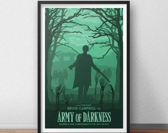 Army of Darkness - 12 x 18 inches - Horror Movie - Bruce Campbell - Sam Raimi