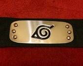Naruto Konoha Leaf Village Headband Black