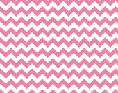 Chevron Fabric for quilt or craft Riley Blake Small Chevron in Hot Pink half yard