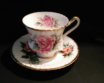 Vintage Slight Mismatch Floral Teacup Set Vintage Paragon By Appointment  Tea Cup and Saucer signed Dany Robyn