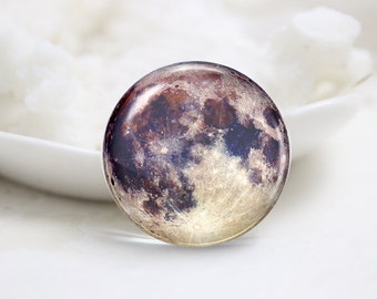 Handmade Round Earth Photo Glass Cabochons (P3636)
