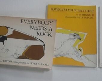 Vintage 60s 70s BYRD BAYLOR Children's Award Winning Paperbacks Illustration Peter Parnell