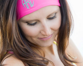 Custom Monogram Headband - 5 colors to choose from! Bridesmaids - Summer - Athletic Wear