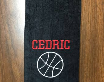 Personalized Basketball towel, basketball team towels, coach gift